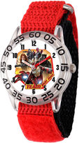 Marvel Boys Red Captain America Civil War Time Teacher Plastic Strap Watch W003120