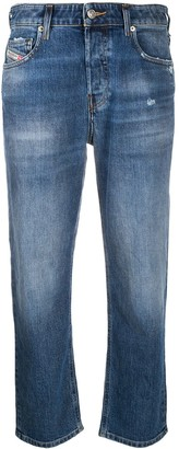 Diesel Aryel 009CZ straight cropped jeans