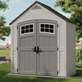 Suncast Cascade 7 ft. 5 in. W x 3 ft. 11 in. D Plastic Storage Shed