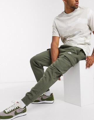 Nike Club cuffed cargo joggers in khaki