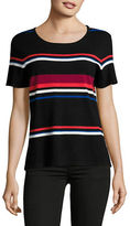 Vince Camuto Striped Short Sleeve Sweater
