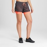 Champion Women's Layered Train Shorts - Indigo Screen/Coral