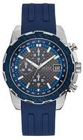 GUESS Gents` Leather Strap Sport Watch