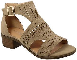 Top Moda Women's Sandals Khaki - Khaki Braided Gilian Sandal - Women