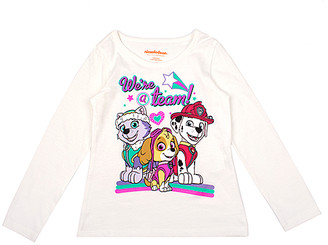 Children's Apparel Network Girls' Tee Shirts OFFWH - PAW Patrol Off-White 'We're a Team' Long-Sleeve Tee - Girls