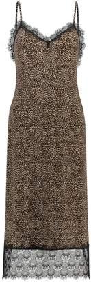 MICHAEL Michael Kors Mini Leopard Matte Jersey Slip Dress