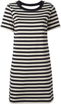 Moncler striped open back dress - women - Cotton/Polyamide - M