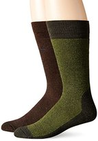 Timberland Men's 2 Pack Assorted Cushion Foot Bed Boot Sock