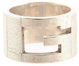 Gucci Sterling Silver G Cut Out Band Ring Size 5.5 AP1631 MHL