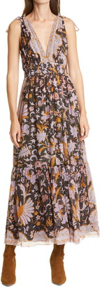 Ulla Johnson Annalise Sleeveless Silk Blend Maxi Dress