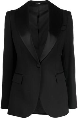 P.A.R.O.S.H. satin-trimmed blazer