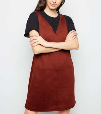 New Look V Neck Jersey Pinafore Dress