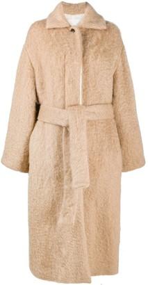 Jil Sander Textured Belted Coat