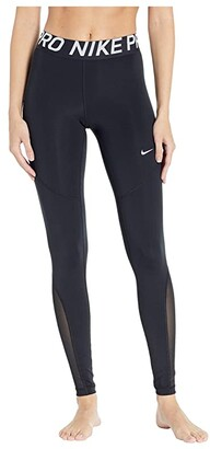 Nike Pro Tights (Black/White) Women's Casual Pants
