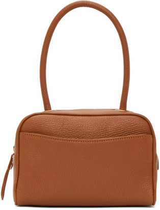 BY FAR Tan Martin Top Handle Bag