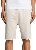 AllSaints Exole Cotton Sweat Shorts, Vintage White