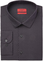 Alfani RED Men's Extra Slim-Fit Black Star Dress Shirt, Only at Macy's
