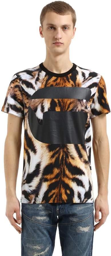 G Star G-Star Mostom Animalier Print Jersey T-Shirt