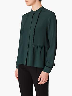 Paul Smith Silk Blend Blouse, Bottle Green