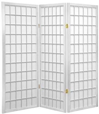 Oriental Furniture 4 ft. Tall Window Pane Shoji Screen - - 3 Panels