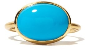Irene Neuwirth Turquoise & 18kt Gold Ring - Blue