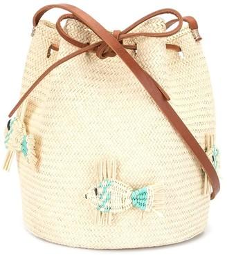 Mercedes Salazar Woven Fish Bucket Bag