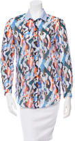 Carven Printed Button-Up Top