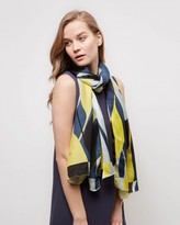 Jaeger Silk Graphic Floral Scarf