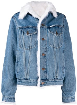 Forte Dei Marmi Couture Faux Fur Lined Denim Jacket