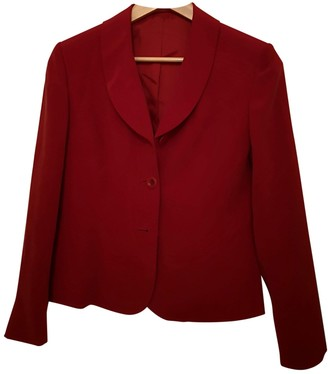 Hobbs Red Silk Jacket for Women