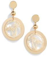 Ettika Palm Tree Hoop Earrings