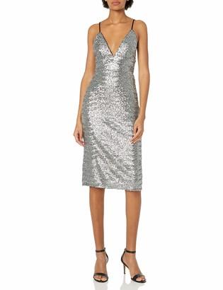 ABS by Allen Schwartz Women's Mid-Length Slip Dress in Sequins