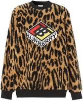 Burberry graphic logo leopard print sweatshirt
