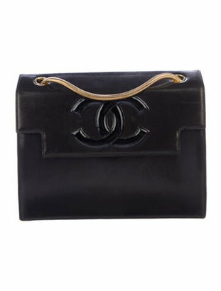 Chanel Vintage Lambskin CC Flap Bag Black