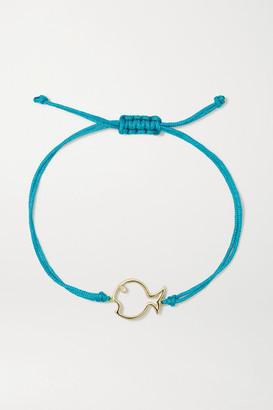 Yvonne Léon 9-karat Gold, Cord And Diamond Bracelet - one size