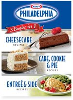Bed Bath & Beyond Kraft Philadelphia® 3 CookBooks in 1: Cake, Cookie & Pie Entree & Side Dish Cheesecake Recipes