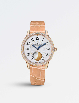 Jaeger-LeCoultre Rendez-vous moon pink-gold and leather watch
