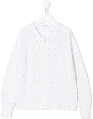 BRUNELLO CUCINELLI KIDS Zipped Long-Sleeve Cardigan
