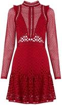 Self-Portrait Hall lace mini dress