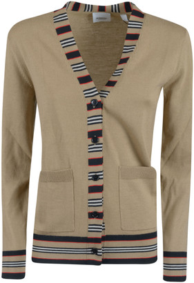 Burberry V-neck Stripe Cardigan