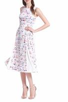 Shoshanna Pleated Midi Dress