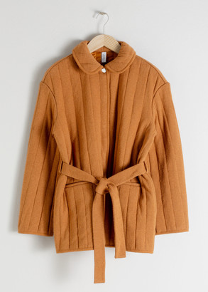 And other stories Quilted Belted Jacket