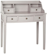 One Kings Lane Lillian Writing Desk - Moon Gray - frame, moon gray; hardware, pewter