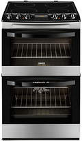 Zanussi ZCV48300XA Electric Cooker, Black/Stainless Steel
