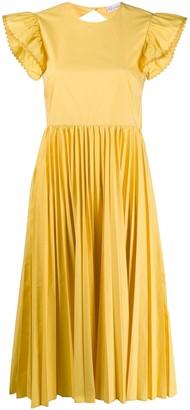 RED Valentino Pleated Design Dress