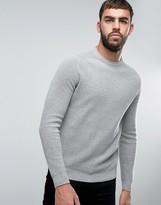 United Colors Of Benetton Jumper With Raglan Sleeve In Cotton Wool Mix