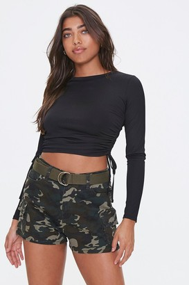 Forever 21 Belted Camo Print Shorts