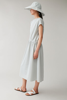 Cos Dress With Drawcord Waist