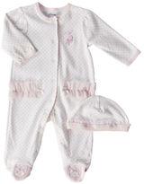 Little Me Newborn Girls 0-9 Months Pink Ballerina Footie Coveralls 2-Piece Set - Smart Value