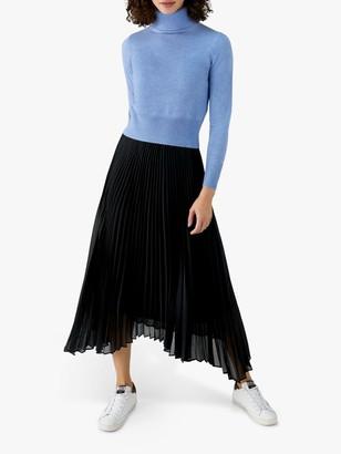 Pure Collection Pleat Drop Hem Skirt